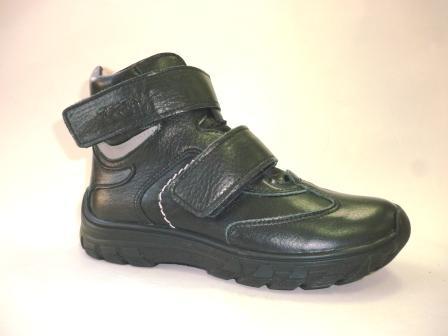 ТОТТО  Ботинки школьные, М3542-байка подкладка; 51,1,01 (черный/серый)   (поступление 25.02.2020г.)  цена  3650руб.