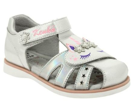 KENKÄ  XHF_1377_silver туфли летние (поступление 15.04.2021г.) цена 1750руб.