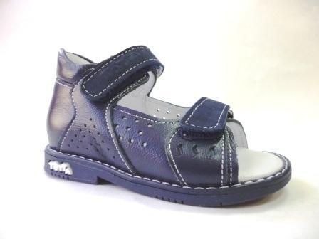 ТОТТО  Туфли  открытые малодетские, М025/2-кожанная подкладка, открытый носок; 2,12 (синий)  (поступление 25.02.2020г.)  цена  2150руб.