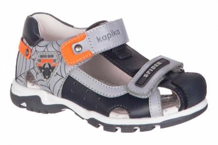KAPIKA Туфли летние р.23-27  32620-2 (серый) (поступление 31.05.2021г.) цена 2800руб.