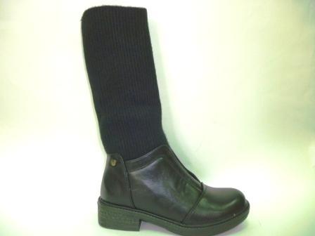 KEDDO  998352/04-01 черный иск.кожа/текстиль детские (для девочек) ботинки  (поступление 27.08.2019г.)  цена  2750руб.