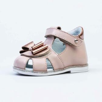 КОТОФЕЙ 022130-21 розовый туфли летние ясельные нат. кожа, р.17-20 (поступление 24.05.2021г.) цена 2350руб.
