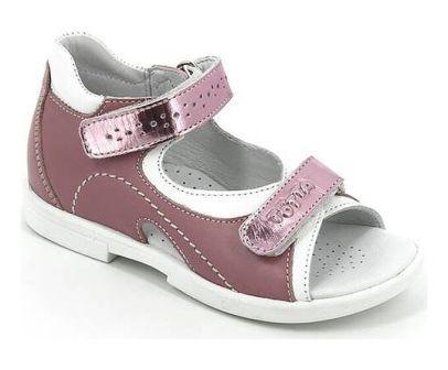 ТОТТА Туфли  открытые детские, 0219-кожанная подкладка, открытый носок  0219-КП-217,537,99 (ирис/белый)  (поступление 06.05.2020г.)  цена  2200руб.