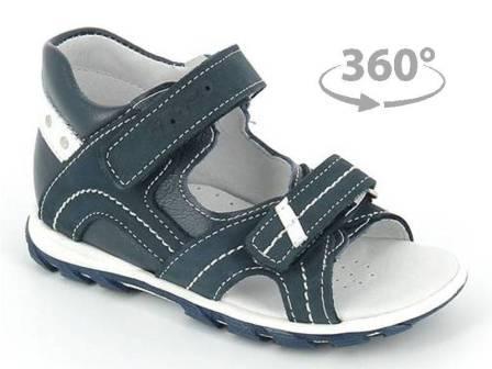 ТОТТА Туфли  открытые малодетские, М0215/1-кожанная подкладка, открытый носок; 13,3,99 (м0215/1-КП-13,3,99 джинс/бел) (поступление 25.05.2020г.)  цена  2080руб.