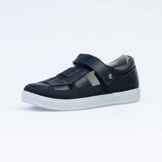 КОТОФЕЙ 532174-25 синий туфли дошкольно-школьные Нат. кожа, 31-35 (поступление 15.07.2020г.)  цена  2990руб.