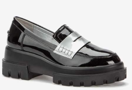 KEDDO 508276/02-01 черный/т.серебряный иск.кожа лак детские (для девочек) туфли  закрытые (поступление 14.08.2020г.) цена 2250руб.