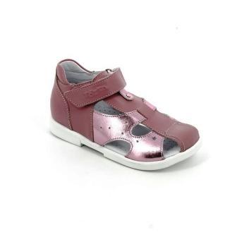ТОТТА МТуфли открытые детские, 069-кожанная подкладка, закрытый носок; 217,537 (069-217,537 ирис/розовый) (поступление 11.02.2021г.) цена 2450руб.