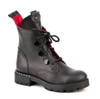 Shagovita Ботинки для девочки 20СМФ 38-41 Девочка  65194Б-1 черный (поступление 04.03.2021г.) цена 4300руб.