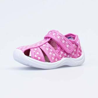 КОТОФЕЙ  221044-11 розовый туфли летние малодетские текстиль, 22-25 (поступление 05.03.2021г.) цена 850руб.