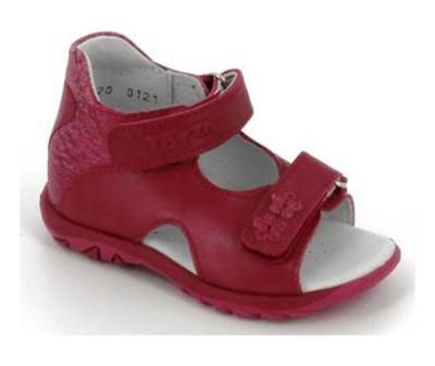 ТОТТА Туфли открытые малодетские, М0312-кожанная подкладка 0312-36,137 (красный/фуксия) (поступление 12.03.2021г.) цена 1950руб.