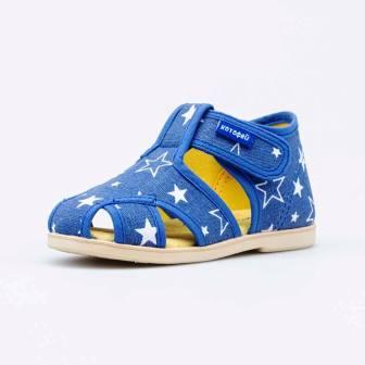 КОТОФЕЙ 121047-71 синий туфли летние ясельно-малодетские текстиль (поступление 07.05.2021г.) цена 880руб.