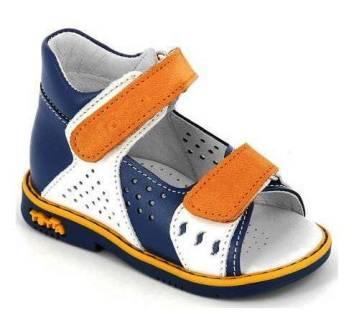 ТОТТА Туфли открытые малодетские, М025/1-кожанная подкладка, арт. 025/1-3,99,15 (джинс/белый/оранжевый) (поступление 07.05.2021г.) цена 2350руб.