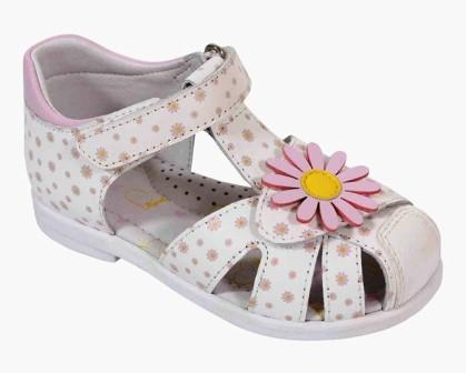 KAPIKA  Туфли летние р. 21-24  31477-3 (белый-розовый) (поступление 31.05.2021г.) цена 2800руб.