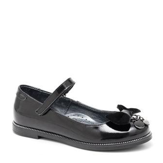 Shagovita  63279 Туфли для девочки 21СМФ черный наплак (32-37)  (поступление 21.07.2021г.) цена 3350руб.