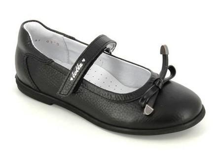 ТОТТА Туфли девичьи, М30001/2-кожанная подкладка, 30001/2-701 (черный) (поступление 28.07.2021г.) цена 2600руб.