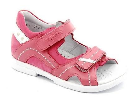 ТОТТА Туфли открытые детские, М10215-кожаная подкладка, 10215-117,87,99 (розовый/белый) (поступление 19.08.2021г.) цена 2490руб.