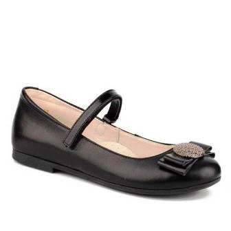 Shagovita Туфли для девочки 19СМФ р.32-37 артикул 63210 черный (поступление 27.08.2021г.) цена 2600руб.