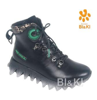 BI&KI Артикул A-B00900-B Ботинки р.33-38 Чёрный (поступление 01.09.2021г.) цена 3050руб.