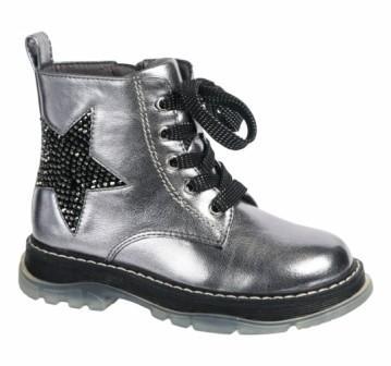 INDIGO KIDS 51-0004A/10 Ботинки детские (серебристый, р.26-30) (поступление 11.09.2021г.) цена 2400руб.
