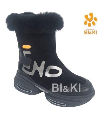 BI&KI Зима A-B00889-B Полусапоги р.33-38 Чёрный  (поступление 30.09.2021г.) цена 4900руб.