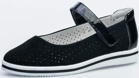 КОТОФЕЙ 532224-24 черный туфли дошкольно-школьные Нат. кожа, 30-35 (поступление 15.07.2020г.)  цена  2800руб.