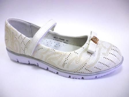 KENKA Туфли летние 10406 белые (поступление 23.04.2019г.) цена  1300руб.