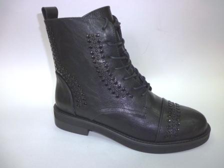 KEDDO 998364/10-01 черный иск.кожа детские (для девочек) ботинки   (поступление 27.08.2019г.)  цена  2850руб.