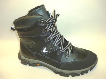 Лель Зима м 7-1357 Ботинки мальчиковые (хром, черный) (поступление 12.10.2019г.)  цена  5600руб.