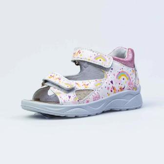 КОТОФЕЙ 122186-21 белый туфли летние ясельно-малодетские нат. кожа, р.21-24 (поступление 24.05.2021г.) цена 2600руб.