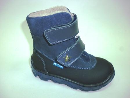 Bottilini  BL-190(1) Ботинки цвет синий (байка) (р.23-27)    (поступление 21.02.2020г.)  цена 2900руб.