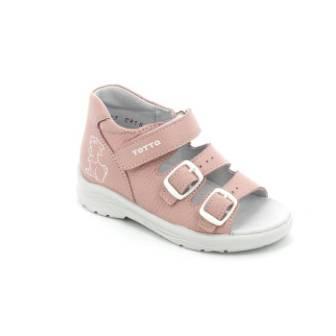 ТОТТА Туфли  открытые дошкольные, М1142-кожанная подкладка, открытый носок; 1142-кп-817 (пудра) (поступление 23.07.2020г.) цена 1500руб.