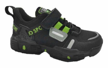 """INDIGO KIDS 90-405B/10 П/ботинки детские TM""""INDIGO KIDS""""Чёрный / зелёный, (33-37)   (поступление 13.08.2020г.) цена 2050руб."""