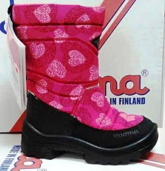 KUOMA 1203 3753 Putkivarsi сапоги детские утепленные, розовые сердца  (поступление 20.08.2020г.) цена 4900руб.