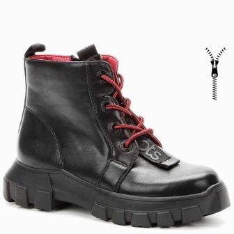 BETSY 908313/05-01 черный иск.кожа детские (для девочек) ботинки (поступление 31.08.2020г.) цена 2800руб.