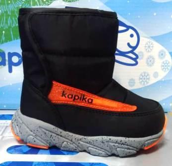 KAPIKA Полусапоги (черный) 21-25  1170д-2  (поступление 23.09.2020г.) цена 1820руб.
