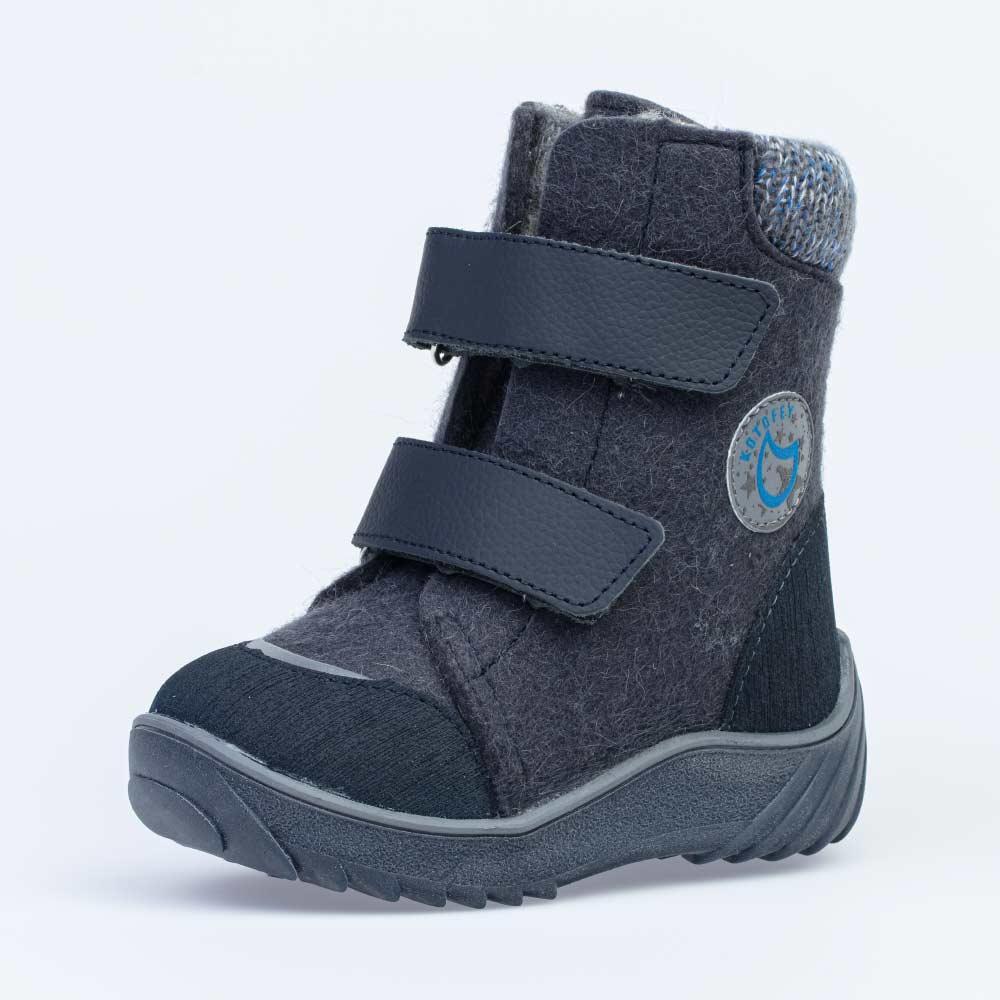 КОТОФЕЙ 357004-42 синий ботинки малодетско-дошкольные войлок, 25-29 (поступление 14.10.2020г.) цена 2950руб.