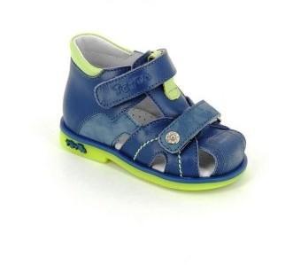 ТОТТА Туфли открытые малодетские, М054/1-кожанная подкладка 054/1-3,43,064 (джинс/лайм) (поступление 12.03.2021г.) цена 2400руб.
