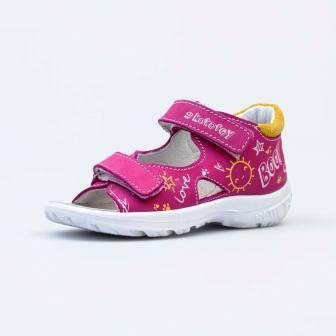 КОТОФЕЙ 322141-21 фуксия туфли летние малодетско- дошкольные нат. кожа (поступление 01.04.2021г.) цена 2700руб.