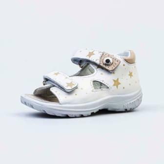 КОТОФЕЙ 122155-21 белый туфли летние ясельно-малодетские нат. кожа (поступление 07.05.2021г.) цена 2600руб.