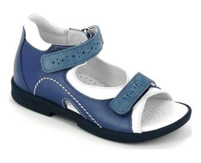 ТОТТА Туфли открытые детские, М0219-кожанная подкладка,  0219-3,43,99 (джинс/белый) (поступление 01.06.2021г.) цена 2490руб.