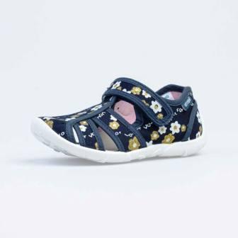 КОТОФЕЙ 421037-14 синий туфли летние дошкольные текстиль (поступление 18.06.2021г.) цена 990руб.
