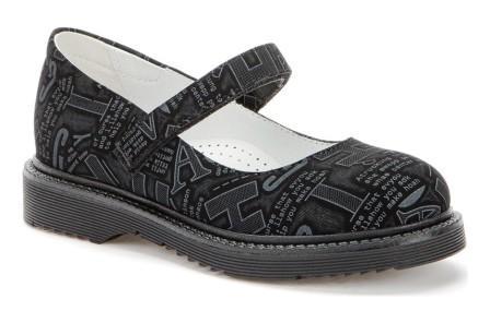 BETSY 918303/05-03 черный/т.серый детские (для девочек) туфли (поступление 27.07.2021г.) цена 2100руб.