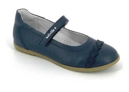 ТОТТА Туфли девичьи, М30001/2-кожанная подкладка, 30001/2-722 (лазурный синий) (поступление 28.07.2021г.) цена 2600руб.