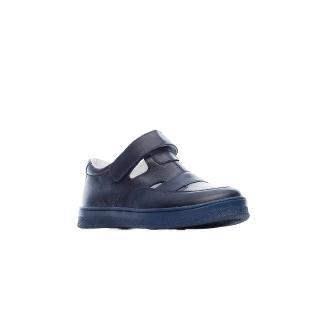 Фома 411414 Туфли школа кожа синяя к/п тэп синий (32-37)  (поступление 11.08.2021г.) цена 2450руб.