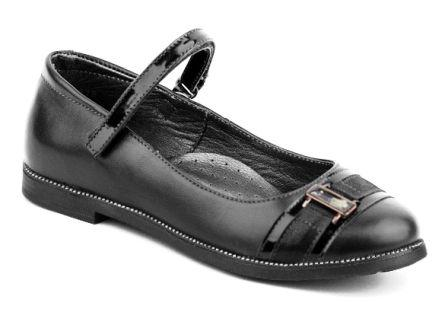 Shagovita Туфли для девочки 20СМФ р.32-37, артикул 63246 черный (поступление 27.08.2021г.) цена 2800руб.
