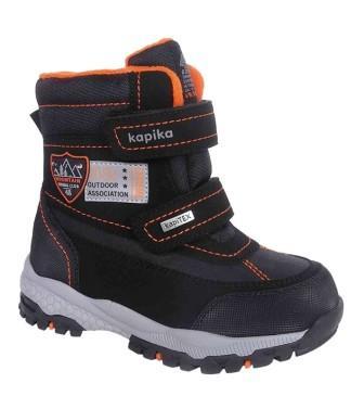 KAPIKA Ботинки р.26-30  арт.42440-1 (черный) (поступление 29.09.2021г.) цена 3800руб.