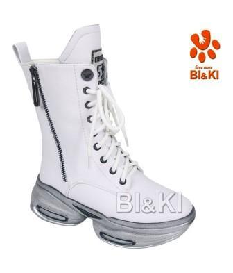BI&KI Зима A-B00892-A Полусапоги р.33-38 Белый (поступление 30.09.2021г.) цена 4600руб.
