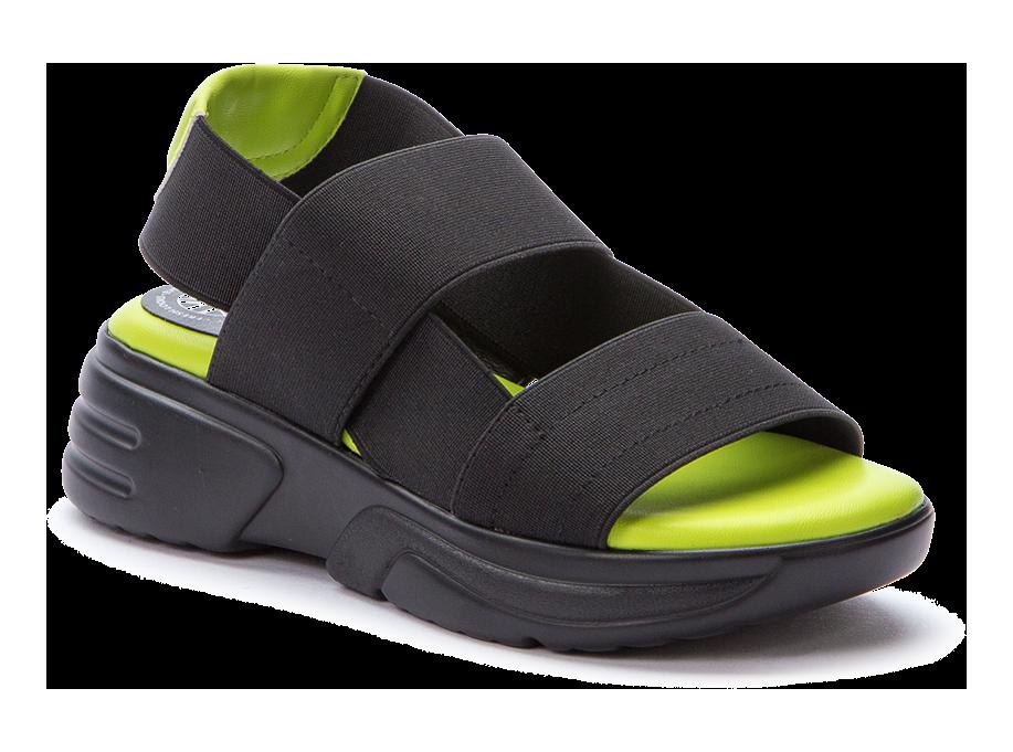BETSY 917341/05-05 черный/салатовый  детские (для девочек) туфли открытые (поступление 07.05.2021г.) цена 2490руб.