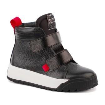 Shagovita 55329 Ш Ботинки для мальчика 21СМФ р.32-37 черно-белый (поступление 08.10.2021г.) цена 4700руб.