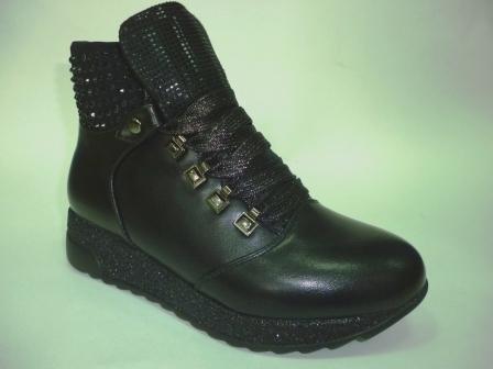 BI&KI A-B004-38-A Ботинки девоч.33-38 Чёрный  (поступление 20.08.2019г.)  цена  2450руб.
